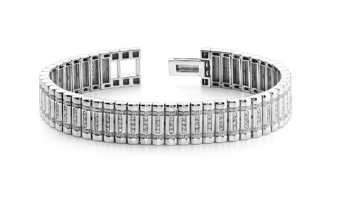 Mens Diamond Pave Set Bracelet