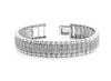 Wavy Diamond Design Mens Bracelet