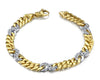 Two Tone Mens Diamond Bracelet