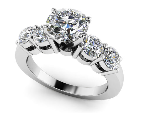 Double Side Diamond Engagement Ring