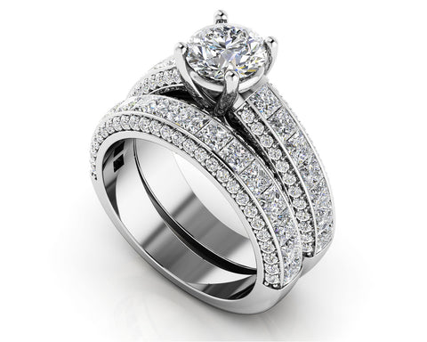 Diamond Deluxe Matching Wedding Set