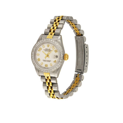 Rolex Oyster Perpetual Datejust 26mm Custom Made Diamond Bezel