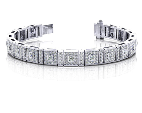 Bezel Set Princess Diamond Bracelet