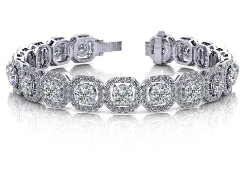 Octagon Dazzling Diamonds Bracelet