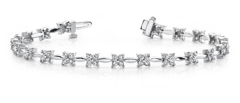 Flower Diamond Design Bracelet