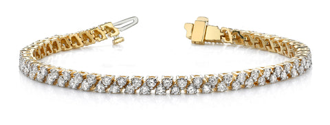 Two-Row Diamond Design Bracelet