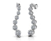 Wavy Journey Round Link Diamond Earrings