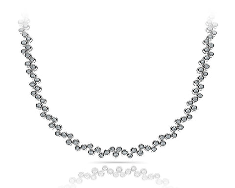 Bubble Design Diamond Necklace