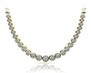 Diamond Strand Glossy Links Necklace