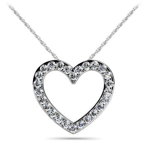 Ideal Diamond Heart Pendant