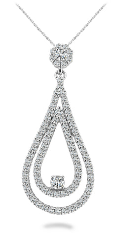 Double Teardrop Diamond Pendant
