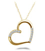 Diamond Detail Heart Pendant