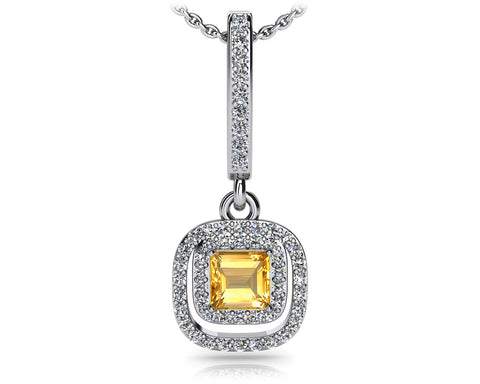 Day to Night Diamond Drop Pendant