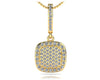 Square Shaped Diamond Cluster Pendant