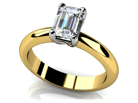 Sophisticated Emerald Cut Diamond Ring