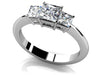 Glamorous Princess Cut 3-stone Engagement Ring