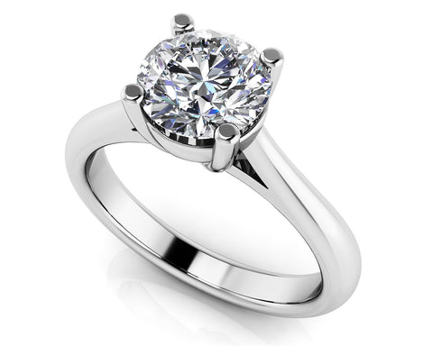 Four Prong Round Solitaire Engagement Ring