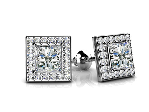 Princess Design Diamond Studs