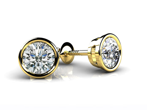 stud the studs jewelry fine setting diamonds diamond earrings bezel perfect collections designer set large