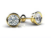 14k Gold Bezel Set Diamond Studs