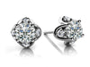 14k White Gold Tulip Diamond Studs
