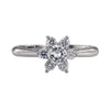 Tiffany & Co. Platinum 0.50ct VS-2 G Color Flower Diamond Ring Size 5.5