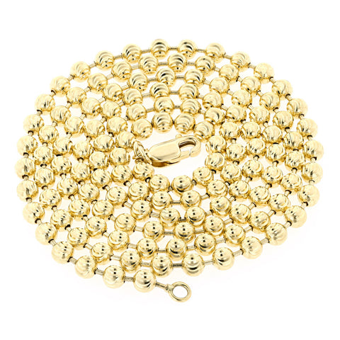 Moon Cut 14K Gold Bead Chain 5mm 22-40in.