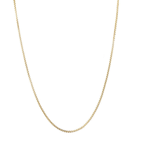 Box Chain Solid 14k Yellow Gold 2.8mm Wide 20-24in.