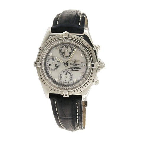 Breitling Silver/Black Crosswind Chronograph 81950