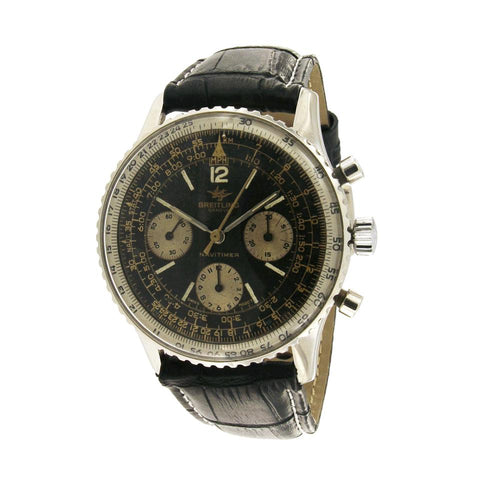 Breitling Black Navitimer Chronograph Vintage 806 Rare Watch