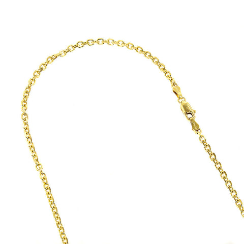 Cable Chain 14K Solid Yellow Gold 4mm Wide 18-24in.