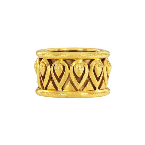 Cartier Vintage 18k Yellow & White Gold Wide Band Ring
