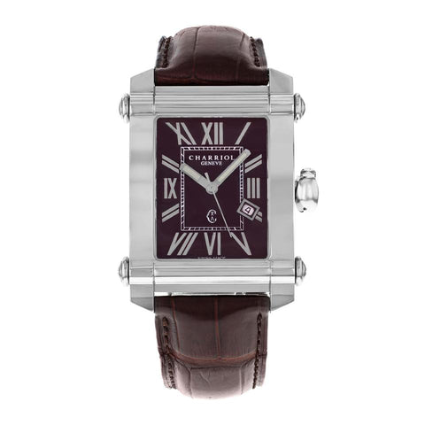 Charriol Rectangle Brown Dial Quartz CCSTRX.794.2037