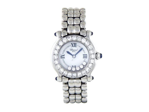 Chopard White Happy Sport Diamond Ladies with Custom Bezel