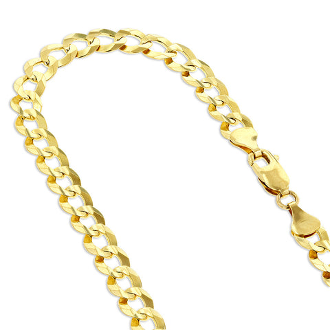 Curb Chain Solid 14K Gold 8mm Wide 20-24in.