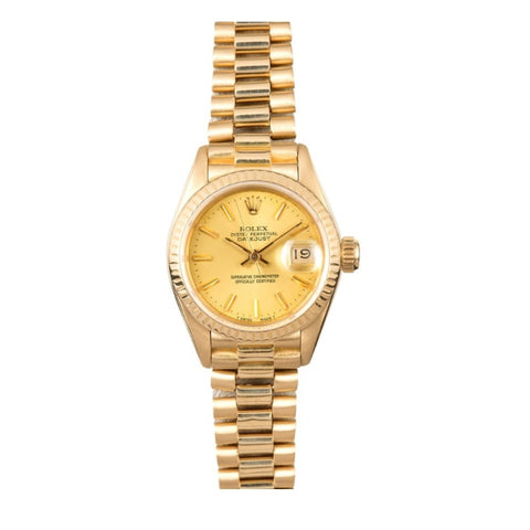 Rolex Oyster Perpetual Datejust 26 Yellow Gold Ladies Watch 69178