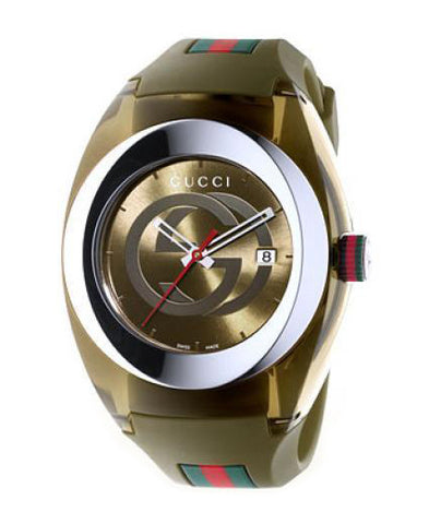 Gucci SYNC XXL Green Rubber Green Dial YA137106