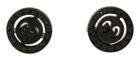 Gucci Black 18k Gold Icon Twirl Stud with Diamonds Earrings