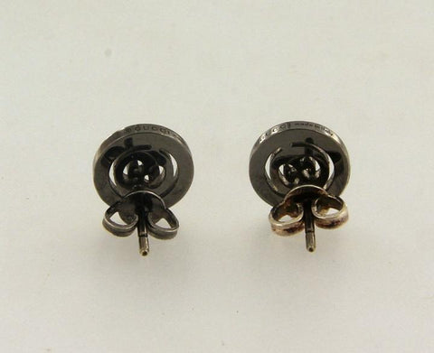 d1753694f03 Gucci Black 18k Gold Icon Twirl Stud with Diamonds Earrings – Crown ...