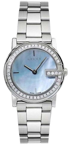 Gucci Blue Ladies Mop Dial Diamond Bezel YA101514 Watch