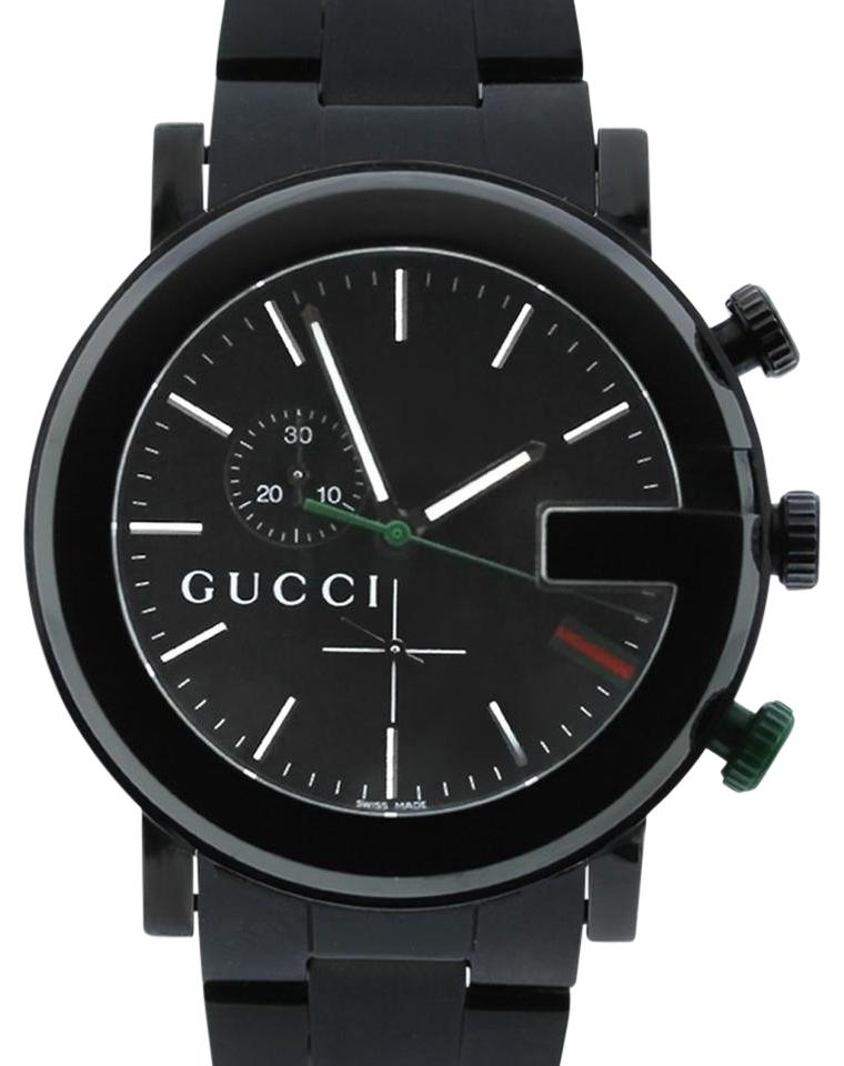 94bf0e55107 Gucci Black G-Chrono Collection PVD and Stainless Steel YA101331 ...