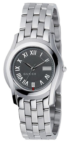 Gucci Ladies Gray Dial Stainless Steel YA055508 Watch