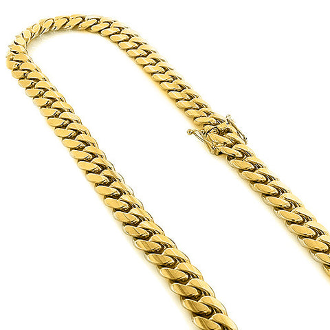Miami Cuban Link Colossal Half Kilo Gold Chain 14mm Wide 22-40in.