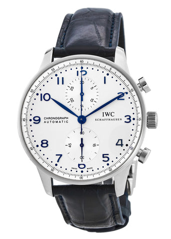 IWC Portuguese Chronograph Blue Hands IW371446
