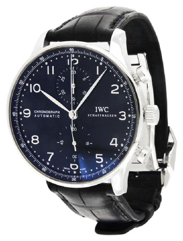 IWC Black Portuguese Chronograph Dial Men's 3714-47 Watch