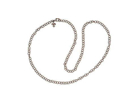 "Judith Ripka Dark Gray "" Verona Circle Link Chain"