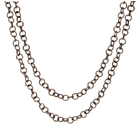 "Judith Ripka Chocolate "" Verona Circle Link Chain Necklace"