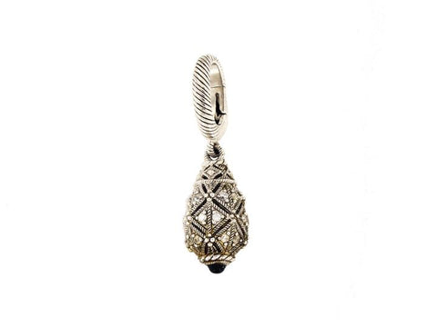 Judith Ripka Silver Sterling Drop Pendant Charm