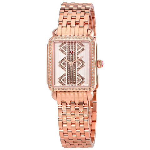 Michele Deco II Mid Rose Gold-Tone Ladies MWW06I000021 Watch