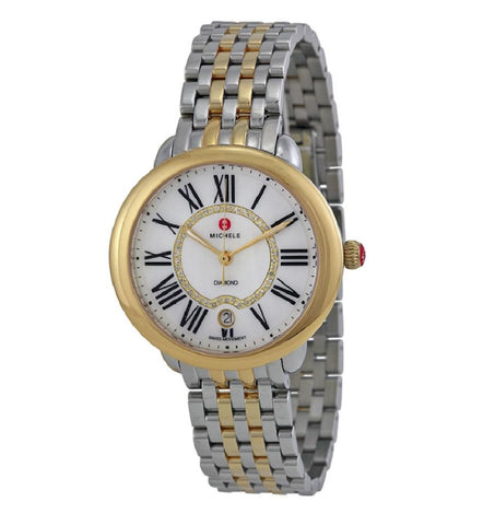 Michele Two-Tone Serein Diamond Dial MWW21B000015 Watch